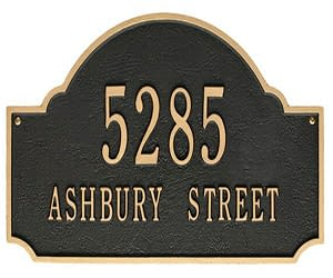 Address Plaque Gallery