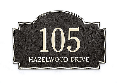 Address Plaque with Bronze Finish