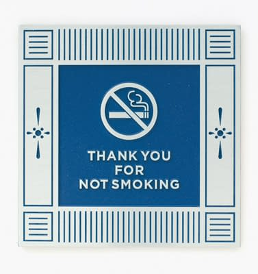 Etched No Smoking Plaque