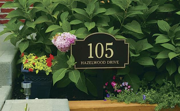 Bronze Finish Address Plaque
