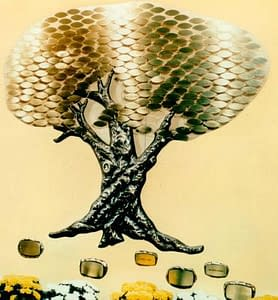 Donor Tree with gold leaves