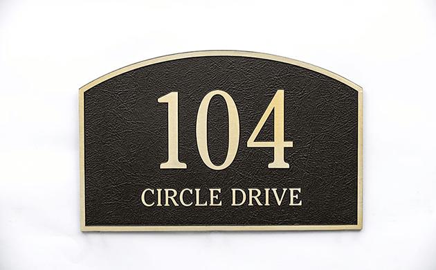 Arched Address Plaque