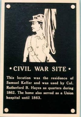 Civil War Site plaque