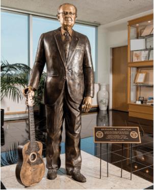 Custom statue honoring company founder
