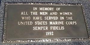 USMC Plaque
