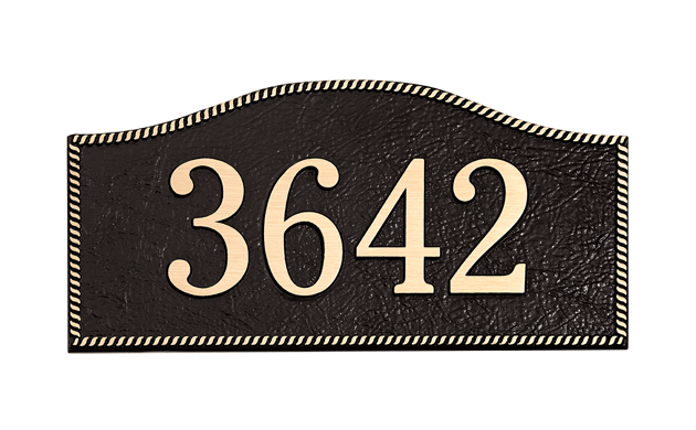 Rope Border Address Plaque