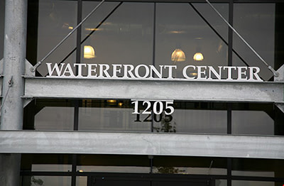 Floating Signage with address