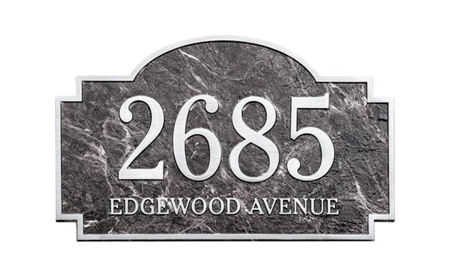Contour Address Plaque