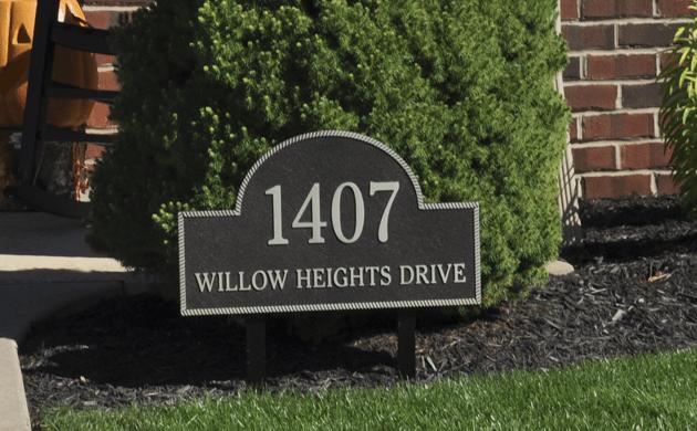 Aluminum Address Plaque
